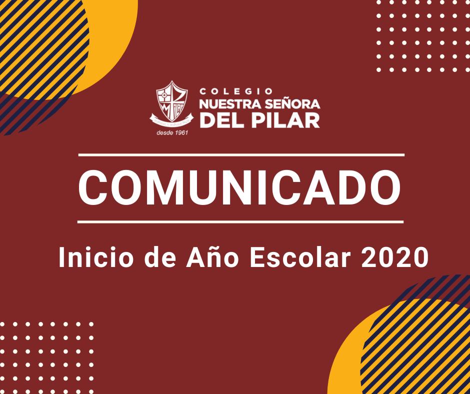 Inicio del Año Escolar 2020