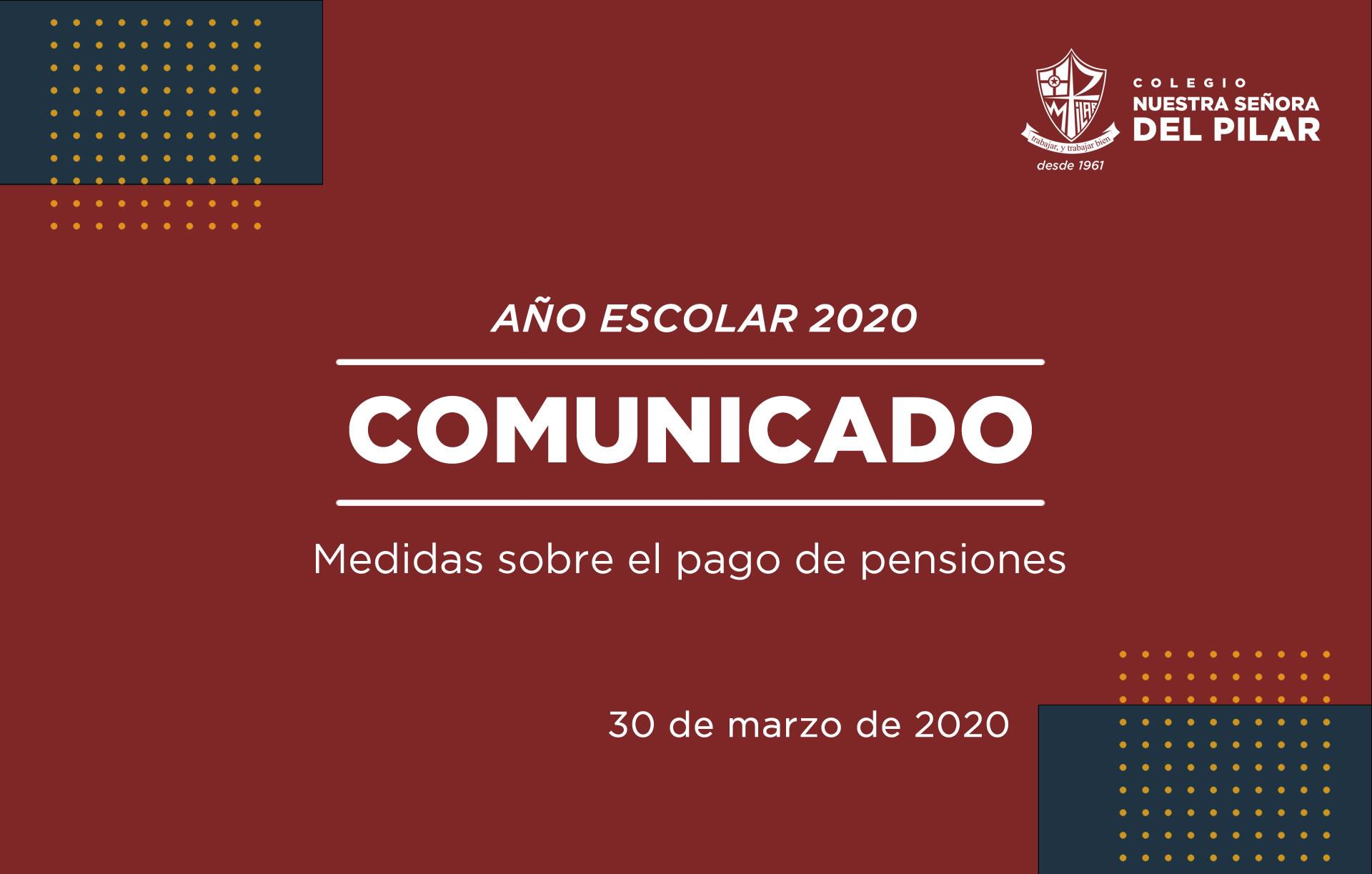 Medidas sobre el pago de pensiones educativas 2020